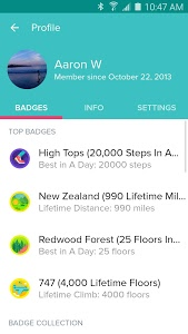 screenshot of Fitbit version 2.7.2