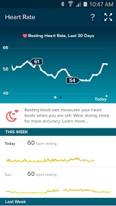 screenshot of Fitbit version 2.16.3