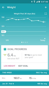 screenshot of Fitbit version 2.30