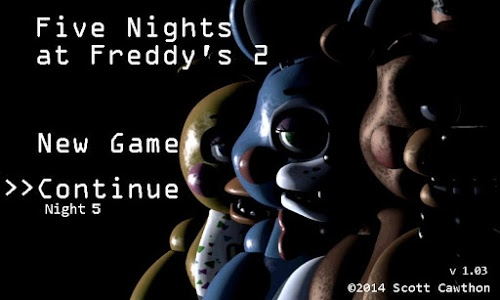 screenshot of Five Nights at Freddy's 2 version 1.07