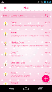 screenshot of Candy SMS version 3.0.9