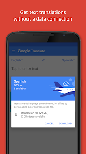 screenshot of Google Translate version 5.27.0.RC04.237379852