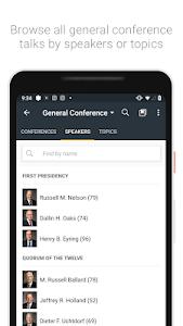 screenshot of Gospel Library version Varies with device