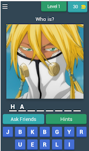 screenshot of Guess The Character version 4.1.0z