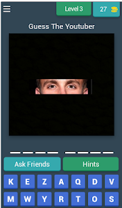 screenshot of Guess The Youtuber version 3.1.8z