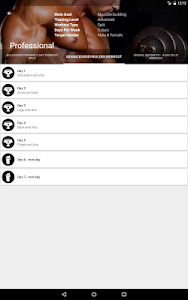 screenshot of Gym App Workout Log & tracker for Fitness training version Varies with device