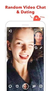 screenshot of HOLLA: random video chat & dating version Varies with device