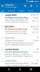 screenshot of HTC Mail version Varies with device