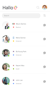 screenshot of Hallo: Speak English with Friends version 2.4.1