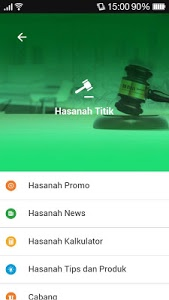screenshot of Hasanah Mobile BNI Syariah version 1.0.3