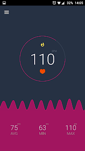 screenshot of Heart Rate Monitor version 3.4
