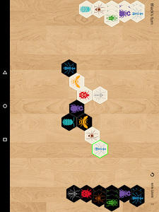 screenshot of Hive with AI (board game) version 8.6.2