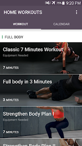 screenshot of Home Workout - No Equipment & Meal Planner version 1.0.26