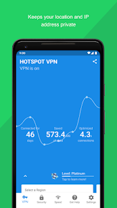 screenshot of Hotspot VPN - Free, Unlimited, Fast, and Secure! version 7.2.1256