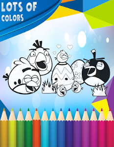 screenshot of How To Color Angry Birds version 1.0