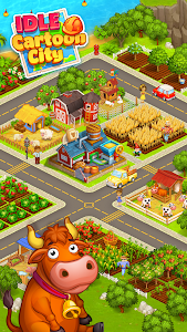 screenshot of Idle Cartoon City Empire:Miner,Supermarket,Farming version Varies with device
