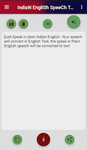 screenshot of Indian English Speech To Text ~Speak As Indian] version 1.0.1 v