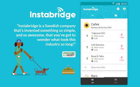 screenshot of Instabridge - Free WiFi Passwords and Hotspots version Varies with device
