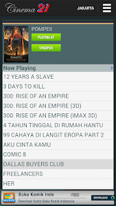 screenshot of Jadwal Cinema 21 version 4.0.3