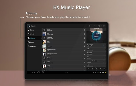 screenshot of KX Music Player version 1.3.7