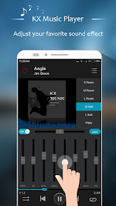 screenshot of KX Music Player version 1.2.3