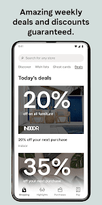 screenshot of Klarna - Shop now. Pay later. version 20.5.86