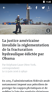 screenshot of Le Monde, l'info en continu version 6.7.3