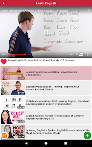 screenshot of Learn English through Videos version 1.7.0