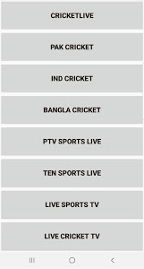 screenshot of Live Cricket World Cup 2019 version 1.2