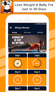 screenshot of Lose Weight and Belly Fat in 30 Days version 1.1.9