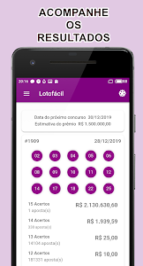 screenshot of Lotofacil Facil version 2.2.3