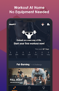 screenshot of ManFIT – Muscle building Exercise, Home Workout version 1.7.9