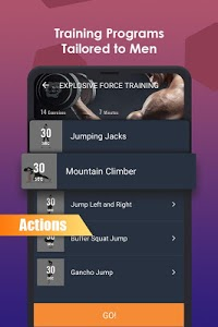screenshot of ManFIT – Muscle building Exercise, Home Workout version 1.8.8