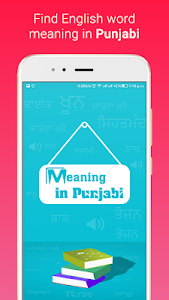 screenshot of Meaning in Punjabi version 2.0