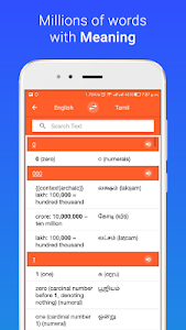 screenshot of Meaning in Tamil version 2.0