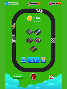 screenshot of Merge Racing Cars version 1.0