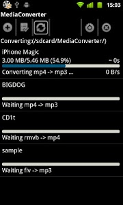 screenshot of Mp3 Media Converter version 1.3.0