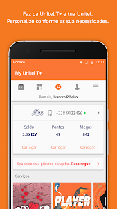 screenshot of My Unitel version 1.2.4