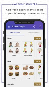 screenshot of New Stickers For WhatsApp: WAStickerApps Free version 1.0.4