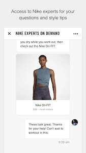 screenshot of Nike version Varies with device