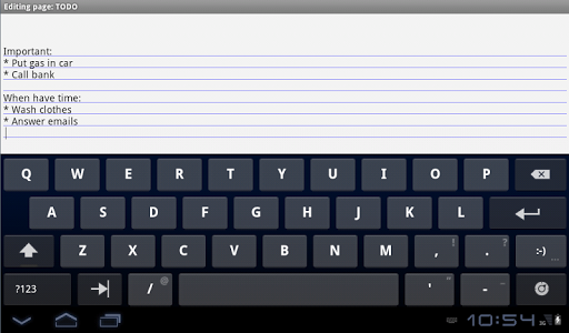 screenshot of Notebook with backup Free version 1.84