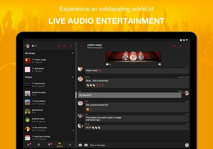 screenshot of WOLF - Live Audio Shows & Group Chat version 9.2.1