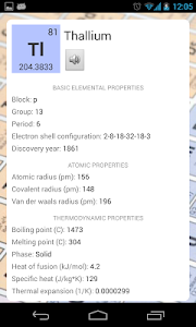 screenshot of Periodic Table version 2.3.0