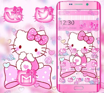 screenshot of Pink Princess Kitty Theme version 1.1.2