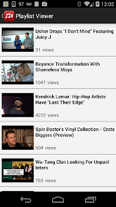 screenshot of Playlist Viewer for YouTube version 13.0