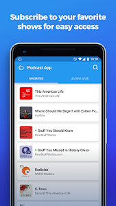 screenshot of The Podcast App version 2.0.3