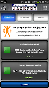 screenshot of Positive Activity Jackpot version 2.5.6
