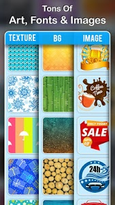 screenshot of Poster Maker: Creative Arts, Flyer, Ads Page Maker version 1.7