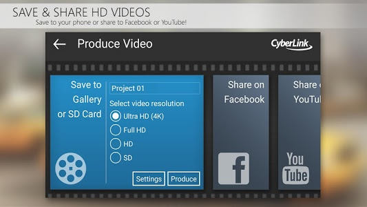 screenshot of PowerDirector Video Editor App: 4K, Slow Mo & More version 4.7.1