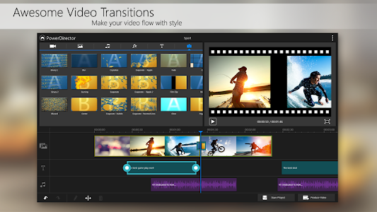 screenshot of PowerDirector Video Editor App version 4.0.1